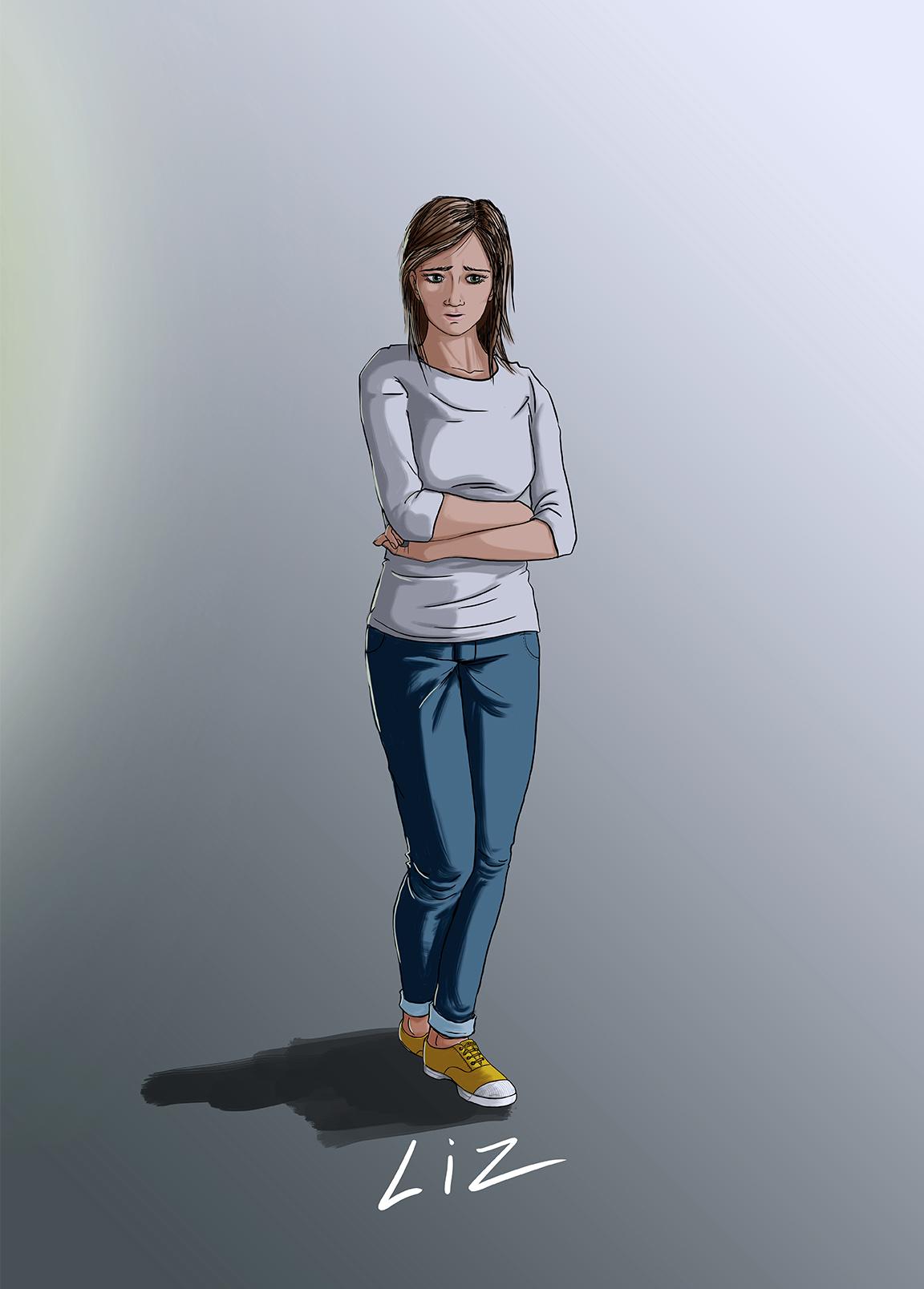 illustration-personnage-Liz-webserie-bunker