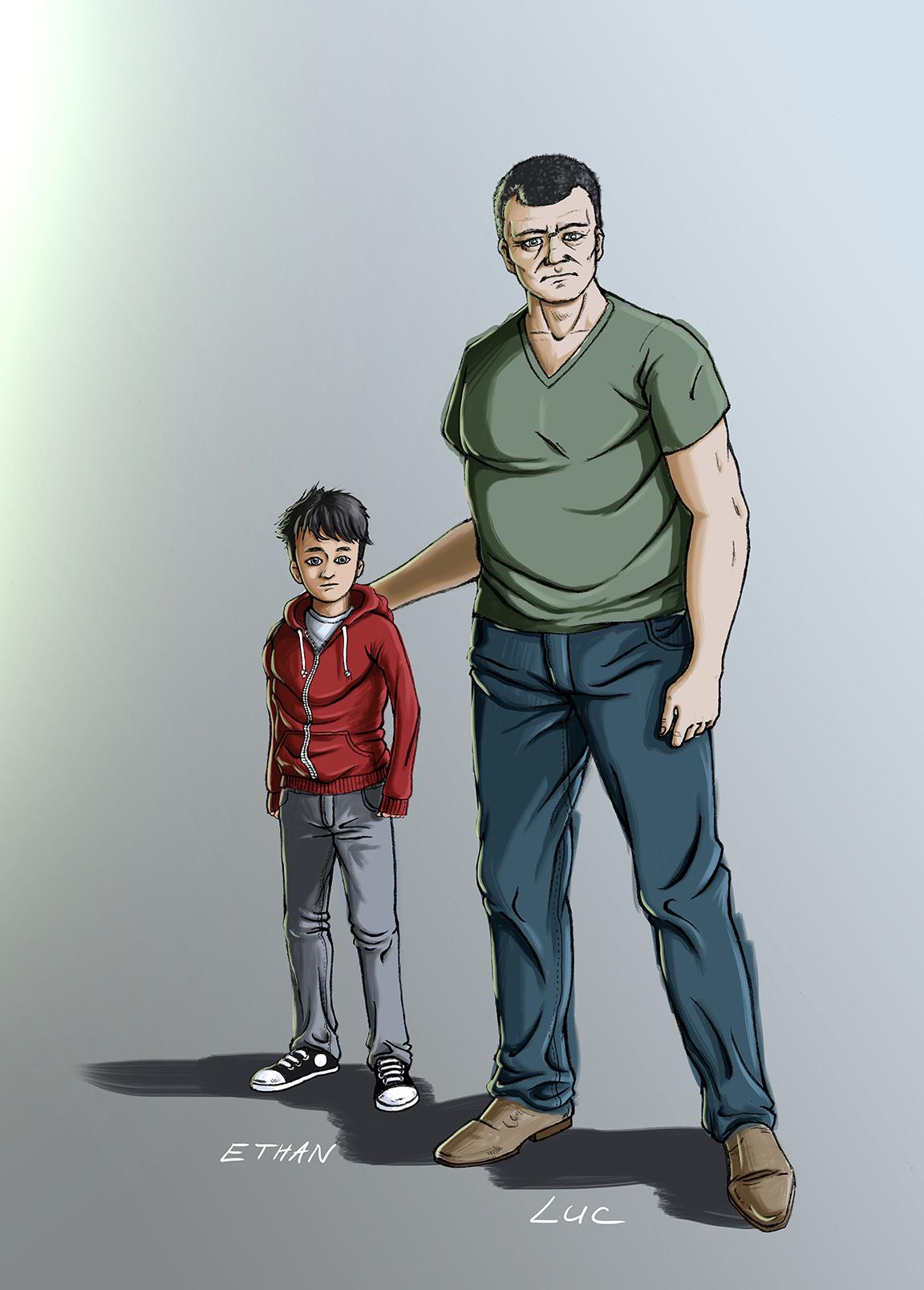 illustration-personnage-Ethan-Luc-webserie-bunker